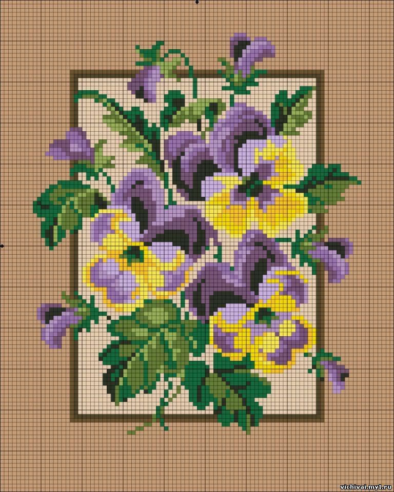 Фото вышивок с цветами