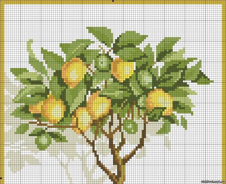 Лимонное дерево схема для вышивки
