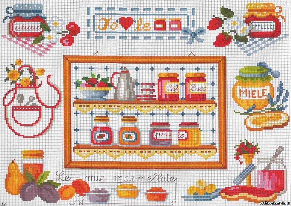 Вышивки на кухню крестиком 2