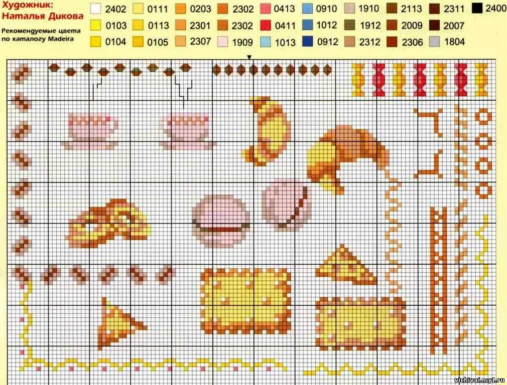 142Схему вышивки еда
