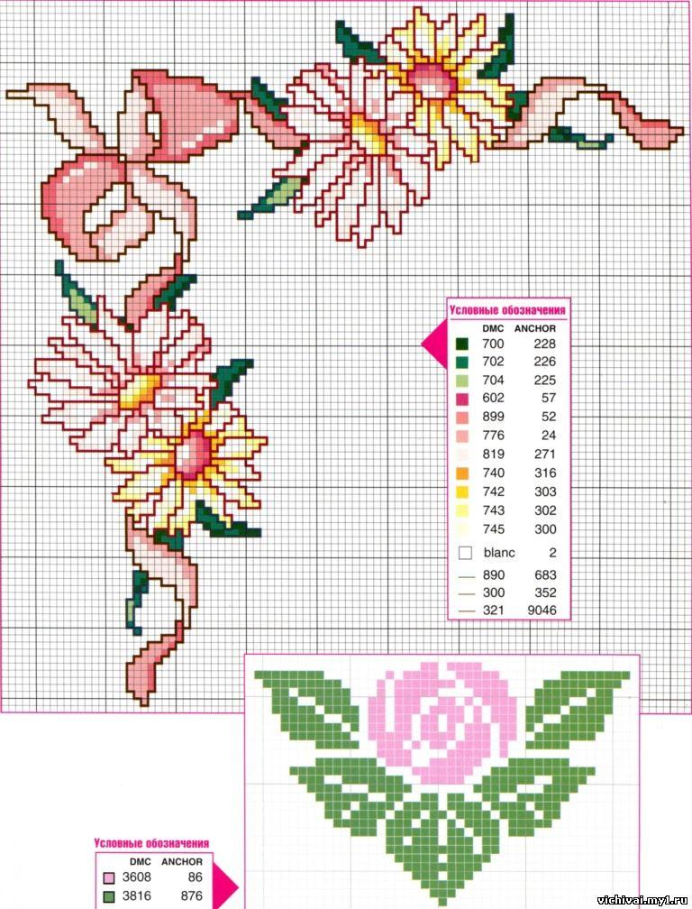 Картинки цветов для вышивки крестом 499