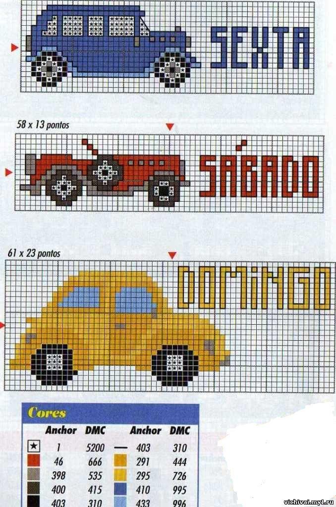 Вышивка ретро автомобиль схема 194