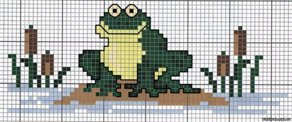 Схемы вышивки крестиком лягушки и жабы 52