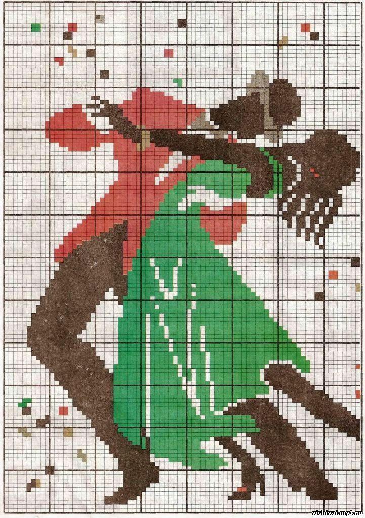 пара фазанов вышивка крестом