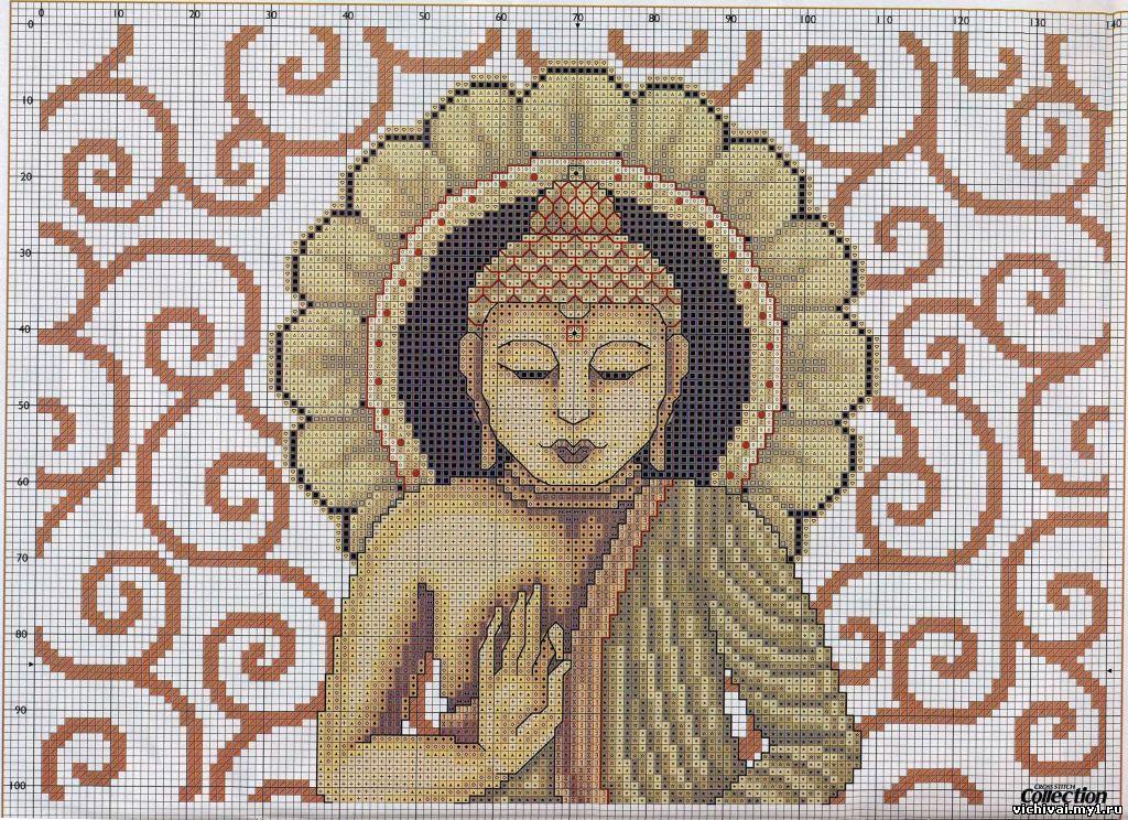 Вышивка крестом будда схема